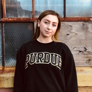 Vintage 1990s Stitched Purdue Boilermakers Sweater